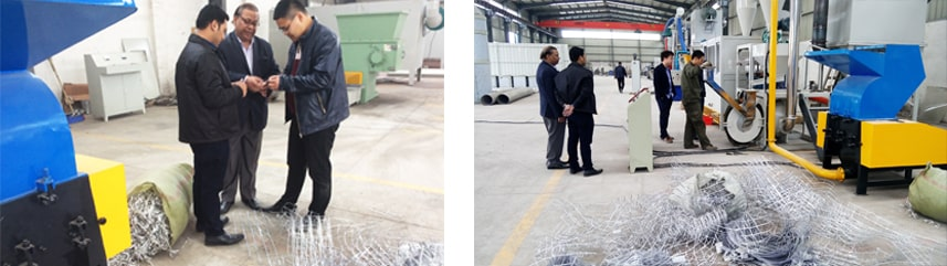 Indian Customers Inspect Aluminum Plastic Recycling Machine