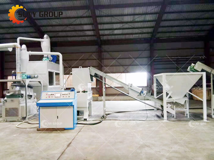 Japanese customer Cable Wire Recycling Machine production line work site