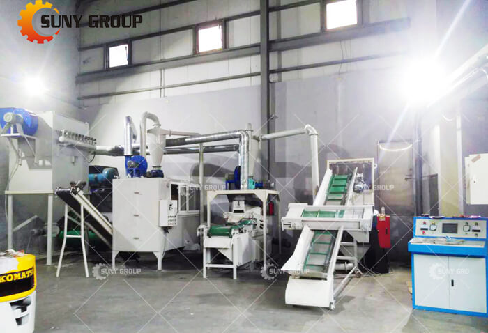 Taiwan customer Cable Wire Recycling Machine work site