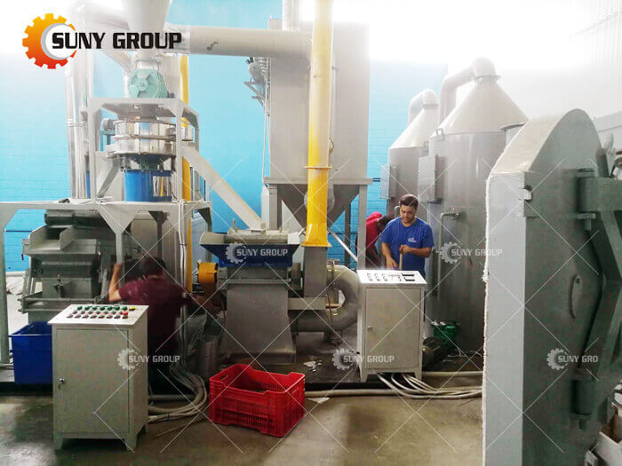 Greek customer PCB Recycling Machine work site