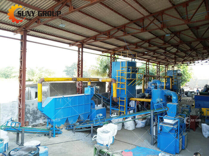 Waste Radiator Recycling Equipment-Recycling equipment Work site