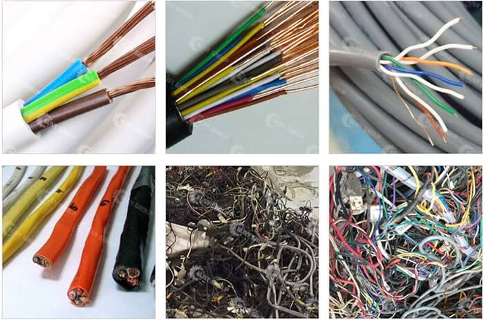 waste cable wires