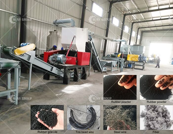 waste tire processing equipment
